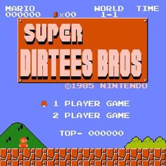 Here's another Dirtees logo mashup I once made.  #supermario #nintendo #supermariobros #mario #mariobros #nes #snes #nintendolife #nintendoworld #retrogaming #retrogamer #retrogames #vintage #retro #classic #nostalgia #mashup #logo #design #photoshop #supermarioodyssey