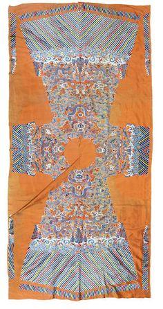 uncut dragon robe C19th