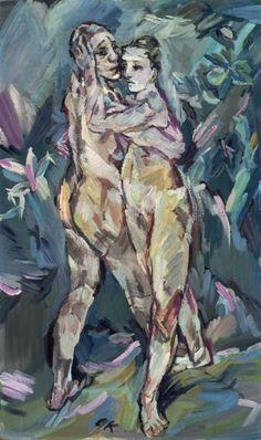 Oskar Kokoschka, Two Nudes