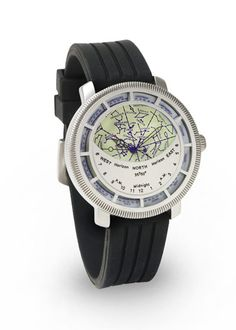 ThinkGeek :: Planisphere Watch - align the date and time and you can see the constellations visible that evening (Northern Hemisphere) Constellations In The Sky, Map Watch, Hunting Gifts, Harry Winston, Cool Technology, Van Cleef Arpels, Watch Faces, Patek Philippe, Tag Heuer