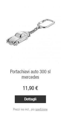 Dettagli  Portachiavi Auto 300 SL Mercedes Mercedes-Benz sviluppa continuamente nuovi linguaggi formali per accrescere e perfezionare l'identità del proprio marchio, rispettandone sempre la consolidata tradizione. Questo fa sì che anche ogni articolo della Collection Mercedes-Benz interpreti la firma con un'impronta originale e ne rispecchi la competenza, la personalità, il valore e il buon gusto, che si dimostra soprattutto dalle piccole cose.