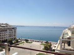 Thessaloniki - The port from Electra Palace Hotel, Aristotelous Square