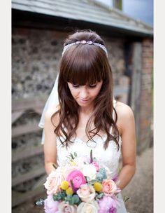 40 Beautiful Brides With Bangs