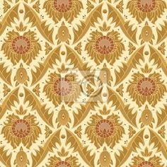 Wall Mural seamless vintage wallpaper pattern - shape • PIXERSIZE.com