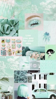 Iphone Wallpaper Tumblr Aesthetic, Cartoon Wallpaper Iphone, Mood Wallpaper, Iphone Background Wallpaper, Aesthetic Pastel Wallpaper, Retro Wallpaper, Aesthetic Wallpapers, Green Wallpaper, Mint Green Aesthetic