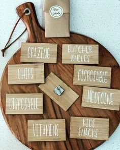 """Boss Labels on Instagram: """"Acrylic or bamboo tags with labels  These personalised tags are for those items that you haven't been able to label until now‼️ for example…"""" Vitamins For Kids, Kitchen Organisation, Bamboo, Boss, Label, Instagram, Kitchen Organization"""