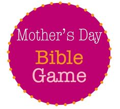 Mothers Day Bible Game: Love on my Shoulder.  Great to file away for Sunday School or Homeschool lesson.