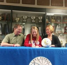 @LNHS_Athletics Signing Day! Congrats to Kelsey Reilly for signing with Guilford College today #thelake @NLIinsider