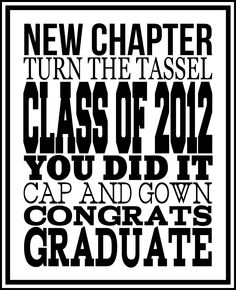 Free printable 2012 graduation subway art