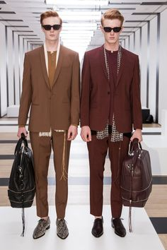 The Kooples Spring 2017 Menswear Collection Photos - Vogue - REPETITION! Both in the background and in the suits they are wearing.