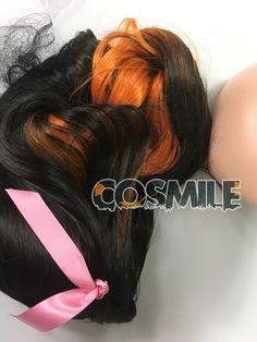 Hairpin Oni Ver Demon Slayer Kimetsu no Yaiba Nezuko Kamado Cosplay Hair Wig
