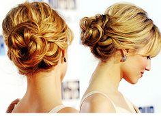 low loose bun- bridesmaid hair?