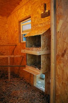 Cute chicken coop nesting box