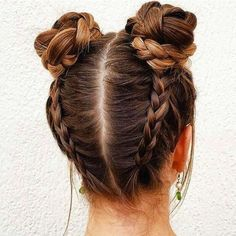 braided buns  (hairstyles tumblr life)