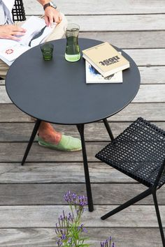 Rooftop garden with bistro table and side chairs from the Branch collection by…