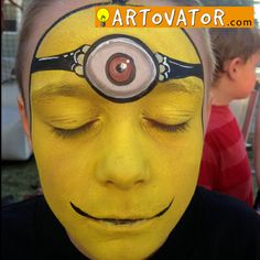#facepaint #birthday #minion #Despicableme #huntington #artovator #facepainter