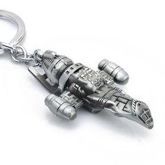 Movie star wars firefly serenity replica hd ruimte schip metalen sleutelhangers sleutelhangers portemonnee gesp film omliggende sleutelhangers k104