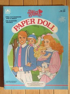 The Heart Family Paper Dolls...had the whole family in my Barbie collection, too!