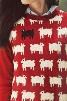 Mary had a little lamb sweater... I probably need this.