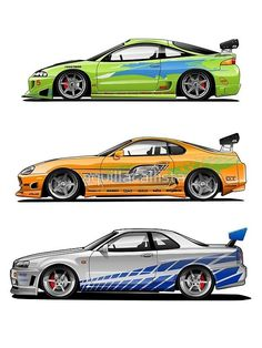 Fast and Furious - Cars and motor Tuner Cars, Jdm Cars, Fast And Furious, Street Racing Cars, Nissan Skyline Gt, Transporter, Car Drawings, Japanese Cars, Modified Cars