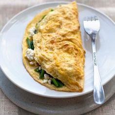 Omelete Clara de Huevo y Espinacas - Desayuno para Diabeticos