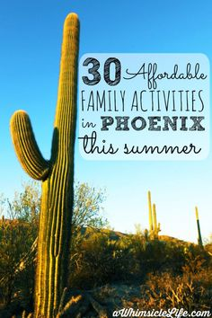 "The kids are home all summer and the temperatures are over 100!  This post has a list of 30 ""cool"" activities to do with kids in the Phoenix area.  From a chocolate factory tour to riding a sky train, the Phoenix area rocks."