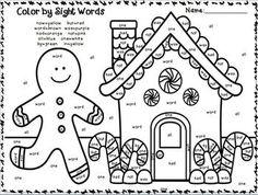 Christmas Color by Sight Word Sentences (Pre-Primer