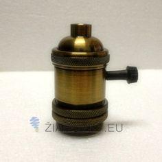 Mohutný hliníkový držiak na svietidlá v bronzovej farbe so spínačom, 6ks