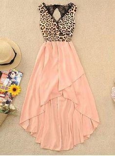 071002 Sexy leopard chiffon dress child