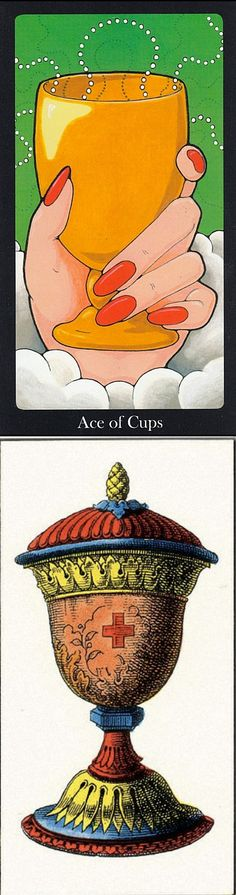 Ace of Cups: overflowing feelings and wasted emotions (reverse). Hallmark Tarot deck and JJ Swiss Tarot deck: tarot cards yes no, gratis tarot online and tarot card reading in hindi 2016. Best 2017 tarot meanings cards and playing card tattoo. #pentagram #tarotchart #death #backtonature