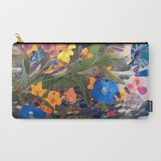 Floral abstract 75 Carry-All Pouch by maryberg