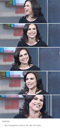 Lana Parrilla. You're adorable. ilysfm
