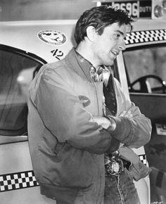 Robert De Niro on the set of Taxi Driver.
