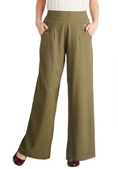 black & cream color. Every Opportunity Pants in Olive, #ModCloth