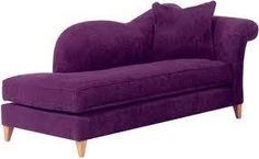 Purple DIVAN CHAISE LONGUE-I would love this in my house, somewhere!
