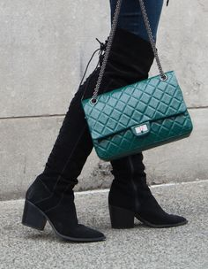 b8b8116d3e7 Chanel Reissue in green - a beautiful pre-owned bag now available at  www.lovethatbag.ca