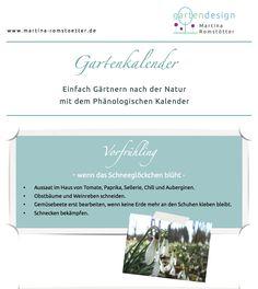 Gartenkalender - phänologischer Kalender - gärtnern nach der Natur!