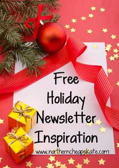 Free holiday newsletter inspiration! Free holiday newsletter templates, free holiday e-cards and more!