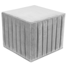 Introducing the newest addition to our Manhattan collection- the Manhattan Ottoman. Featuring channel tufting on all four sides, a simple cube shape, and stylish versatility, this ottoman is sure to please. Shown in Sharkskin velvet 8 week lead time Diy Ottoman, Modern Ottoman, Tufted Ottoman, Ottoman Bench, Custom Furniture, Contemporary Furniture, Modern Closet, Simple Shapes, Furniture Arrangement