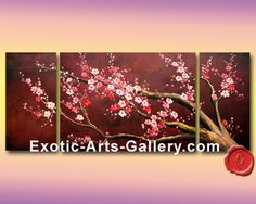 cherry blossom abstract painting - Buscar con Google