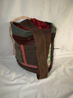Big recycled messenger inner tube bag with a by natasjafakkeldij, €85.00