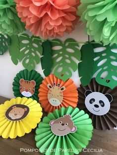 Safari - Animalitos - Jungla  1 año - Cumple Infantil - Party Box - Mesas Tematicas - Candy Bar Safari Theme Birthday, Wild One Birthday Party, Safari Birthday Party, Jungle Party, Animal Birthday, Baby Party, Baby Birthday, Jungle Safari, Safari Decorations