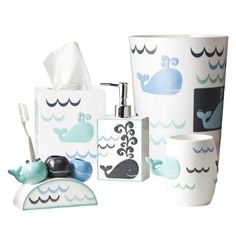 Target whale set - review from another pinner: Like all but the rug. always looks dirty andd rubs against door making it difficult to get in and out of bathroom