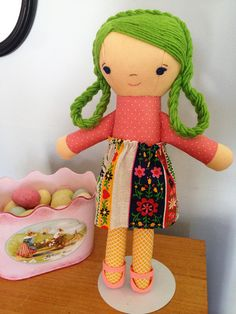 March giveaway doll by Hillary Lang, via Flickr