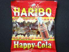 【ハリボー ハッピーコーラ】爽やかなコーラ味が口に広がるグミキャンディです。