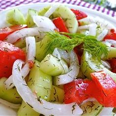 Cucumber Slices With Dill |  #sidedish #vegetarian