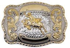 WESTERN BULL RIDER RODEO BIG BELT BUCKLE COWBOY TEXAS NEW