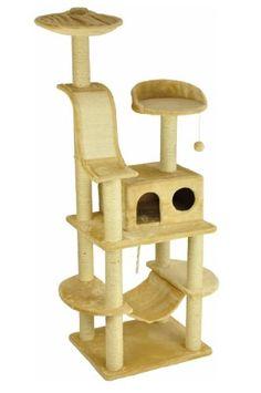 nanook Kratzbaum Niklas 1 - beige - 186 cm - mit robuster Katzenhöhle, Kratzbrett, Katzenspielzeug und Liegemulde - http://www.kratzbaum-bestellen.de/produkt/nanook-kratzbaum-niklas-1-beige-186-cm-mit-robuster-katzenhoehle-kratzbrett-katzenspielzeug-und-liegemulde/