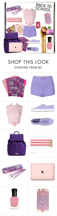 """Back to school"" by fashion-film-fun ❤ liked on Polyvore featuring Juicy Couture, Vera Bradley, Topshop, Superga, Deborah Lippmann and Fitbit"