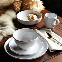 place setting with soft focus background